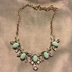 Jcrew turquoise and crystal necklace